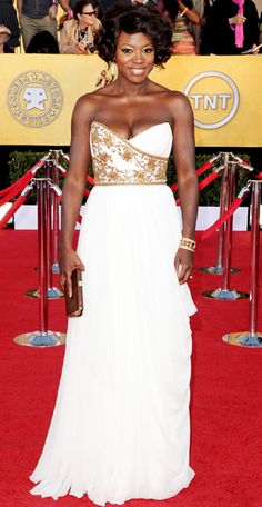 Viola Davis in Marchesa at the 2012 SAG Awards