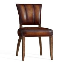 Shop leather dining chairs from Pottery Barn. Our furniture, home decor and accessories collections feature leather dining chairs in quality materials and classic styles. Upholstered Dining Bench, Dining Chair Slipcovers, Leather Dining Chairs, Metal Chairs, White Dining Room Furniture, Kitchen Furniture, Outdoor Furniture, Pottery Barn Kitchen, White Leather Chair