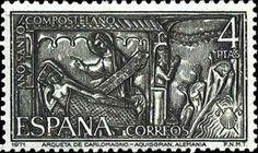 Znaczek: Carving from the Ark of Charlemagne Aachen (Germany) (Hiszpania) (Compostela Holy Year) Mi:ES 1908,Sn:ES 1654,Yt:ES 1668,Sg:ES 2071,Edi:ES 2013,Un:ES 1668