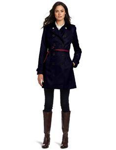 Tommy Hilfiger Women's Water Resistant Fall Rain Trench Coat, Midnight Navy, X-Large Tommy Hilfiger, http://www.amazon.com/dp/B00803FXY2/ref=cm_sw_r_pi_dp_zXprqb1ZPQ0BK