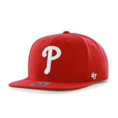 c347909fdef Philadelphia Phillies Sure Shot Red 47 Brand Adjustable Hat