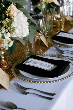 Modern Black and Gold Wedding Ideas