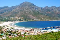 A view of Hout Bay, South Africa.