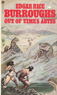 Out of Time's Abyss - Edgar Rice Burroughs, cover by Frazetta