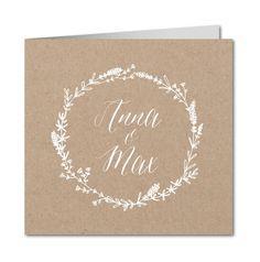 Einladungskarte Hochzeit Edles Papier (R-5742)