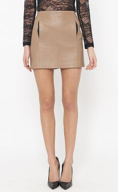 A. L. C. Dark Taupe And Black Skirt