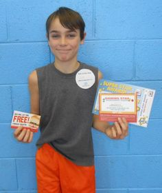 Our Kid of the Day is Cole! Special thanks to Krystal's, Captain D's and Ryan's for our Kid of the Day certificates!