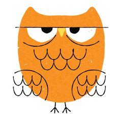 orange owl by Steve Mack