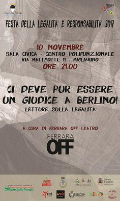 Ferrara: Festa della Legalità e Responsabilità gli appuntamenti delledizione 2017