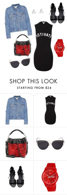 """""""Friday Night Lights"""" by delonicarogers ❤ liked on Polyvore featuring Acne Studios, Sans Souci, Yves Saint Laurent, Swatch and Jennifer Meyer Jewelry"""