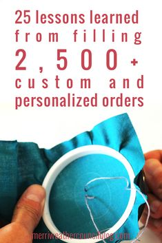 25 lessons learned from filling 2,500+ custom and personalized orders   the merriweather council blog