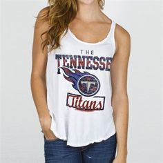 Junk Food Tennessee Titans Ladies Touchdown Tank Top - White