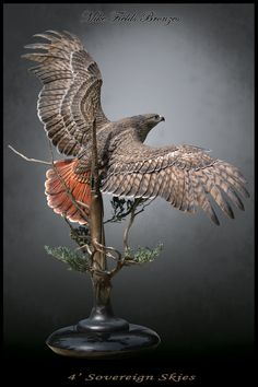 Red-Tailed Hawk Sculpture