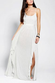 Kimchi Blue Willow Lace-Top Maxi Dress