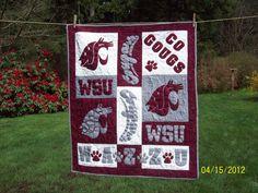 Washington State University Quilt wall hanging    GO COUGS :)