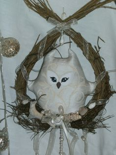 """by """"Oceans and Times"""" Door Wreaths, Grapevine Wreath, Small Doors, Some Pictures, Oceans, Grape Vines, Owl, Times, Etsy"""