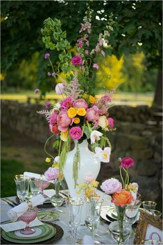 Connecticut Culturally Blended Wedding photographed by Eric Foley with beautiful flowers from Azalea Floral Design Wildflower Centerpieces, Colorful Centerpieces, Wedding Shower Decorations, Wedding Table Centerpieces, Wedding Vendors, Wedding Blog, Dream Wedding, Flower Crown Wedding, Wedding Flowers