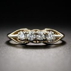 Mid-Century  Diamond Wedding Band