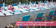 my favority spa party colors