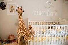 Baby room with chevron.