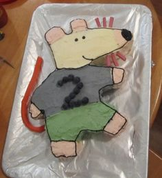 Maisy Mouse Cake tutorial/DIY