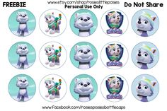 Free Paw Patrol Everest Bottle Cap Images. To save this image at the correct size, click on the image. From there right click and save image. **These images are for personal use only. Do not sell, …
