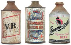 recent collection of 50 vintage beer cans comes from Dan Becker and Lance Wilson's Beer: A Genuine Collection of Cans. Vintage Packaging, Bottle Packaging, Vintage Tins, Vintage Labels, Wine Bottle Crafts, Beer Bottles, Beer Can Collection, Old Beer Cans, Beer Mats