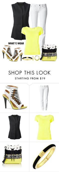 """""""Untitled #865"""" by gallant81 ❤ liked on Polyvore featuring Calvin Klein, 7 For All Mankind, Cédric Charlier, Issey Miyake, Proenza Schouler, Vince Camuto and BillyTheTree"""