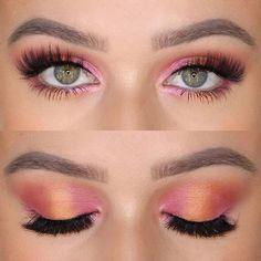 Bringing the sunshine to my lids ☀️ — — Brow Wiz & Clear Brow Gel Warm Brown & Electric… Gorgeous Makeup, Love Makeup, Makeup Inspo, Makeup Inspiration, Beauty Makeup, Makeup Tips, Makeup Geek, Pink Eyeshadow Look, Pink Eye Makeup