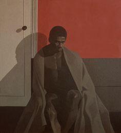 "sameoldart: "" Michael Leonard, Leroy in a Blanket, acrylic on Masonite, 1970 "" Barnett Newman, Alex Colville, Andrew Wyeth, Akira, Bo Bartlett, Queer Art, 2d Art, Portrait Art, Portraits"