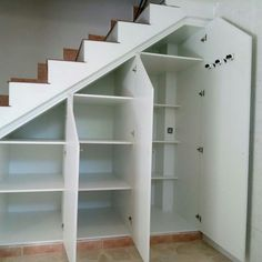 Basement Storage Ideas Clothes 25 New Ideas Understairs Storage Understairs Storage basement basementstairs Clothes Ideas storage Understairs Closet Under Stairs, Space Under Stairs, Under Stairs Cupboard, Basement Stairs, House Stairs, Stairs To Attic, Basement Ideas, Stairway Storage, Under Stair Storage