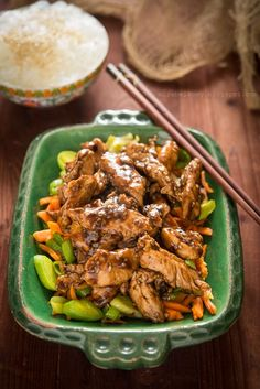 Mirabelkowy blog: Kurczak smażony z sezamem Thai Recipes, Asian Recipes, Healthy Recipes, Chop Suey, Fast Dinners, Tex Mex, Kung Pao Chicken, Wok, Food And Drink