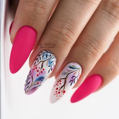 Stylish And Simple Nail Design Ideas - Wittyduck Short Nail Designs, Simple Nail Designs, Nail Art Designs, Tropical Nail Designs, Trendy Nail Art, Stylish Nails, Love Nails, Pretty Nails, Nail Manicure