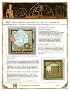 """Double page layout and shadowbox with the """"Come Away With Me"""" line from Graphic45"""
