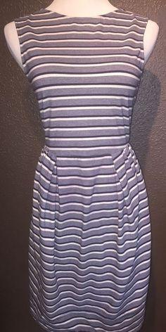 Anthropologie Karen Walker Runaway Blue Navy White Stripes Dress US4 UK #KarenWalkerRunaway #Bubble
