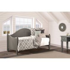 Augusta Daybed with Daybed Suspension Deck, Stone, Gray