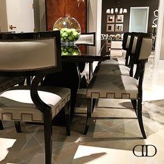 #Harmony- Dorya's Calypso Dining Table and Empire Side Chairs #hpmkt #hpmkt2016 #Dorya #DoryaInteriors #Design #InteriorDesign #Trend #Trending #Fashion #Luxury #LuxuryLiving