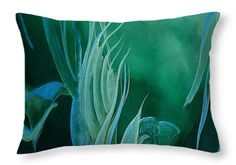 Teal Melody Throw Pillow for Sale by Faye Anastasopoulou 20 x 14
