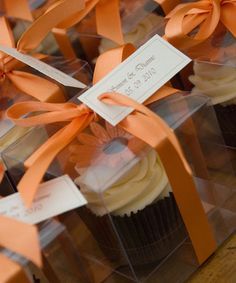 orange wedding cupcakes (just cute- maybe for the shower or something)