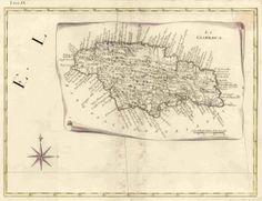 An old Italian map of Jamaica.