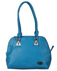 Cerulean blue color handbag, E5HBBL099