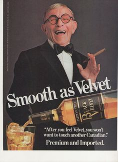 1983 Advertisement George Burns for Black Velvet by fromjanet