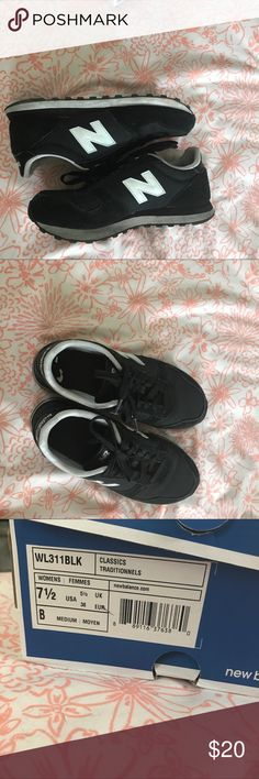 New balance sneakers These are very worn but still in good condition.... they have black marks on the soles of the shoes but I guarantee that can easily be cleaned and I can even do it before I ship them!!! Other than that they are in good condition and still look great New Balance Shoes