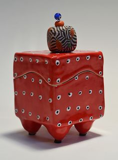 Red Box: Vaughan Nelson: Ceramic Box - Artful Home