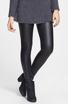 Mimi Chica Faux Leather Leggings (Juniors) | Nordstrom