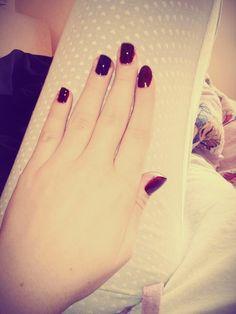 #nails #red #burgundy #purple
