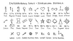 Shorthand Symbols For Tarot Journal Winners - Interrobang Tarot Witch Symbols, Occult Symbols, The Hierophant, Tarot Astrology, Eclectic Witch, Daily Tarot, Tarot Learning, Wheel Of Fortune, Tarot Spreads