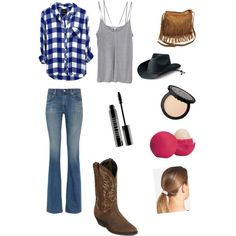 Cowgirl Everyday by kittylolio123 on Polyvore featuring polyvore, interior, interiors, interior design, home, home decor, interior decorating, Cami NYC, AG Adriano Goldschmied, Laredo, L. Erickson, San Diego Hat Co., Lord & Berry and Eos