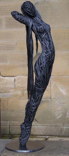 wire art person - Google Search