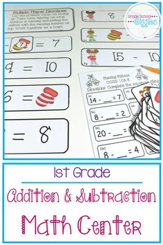 Learning basic addition and subtraction facts takes a lot of practice. Mastering the strategies and building fluency takes even more. This mixed fact math activity is a perfect addition to any kindergarten or first grade classroom's centers. Make teaching fun and save time planning lessons with these simple printables. This pack from Teachers Pay Teachers includes 3 different worksheets, printable cards for addition, subtraction, or mixed practice (within 20). Kids love finding the missing…